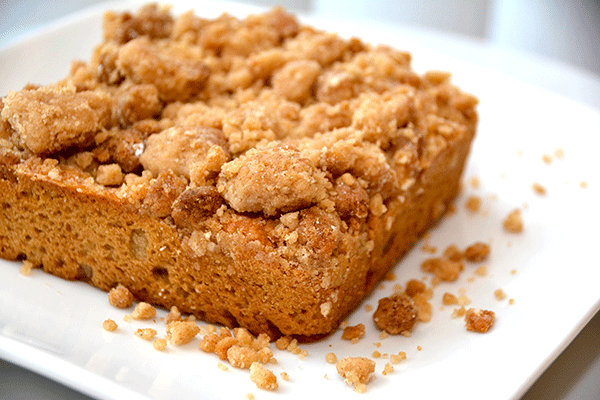 Crumb cake. From i8tonite: One New York Woman's Food Allergies Became an Award-Winning Bakery
