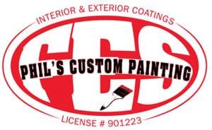 Phil's Custom Interior Exterior Painting Logo