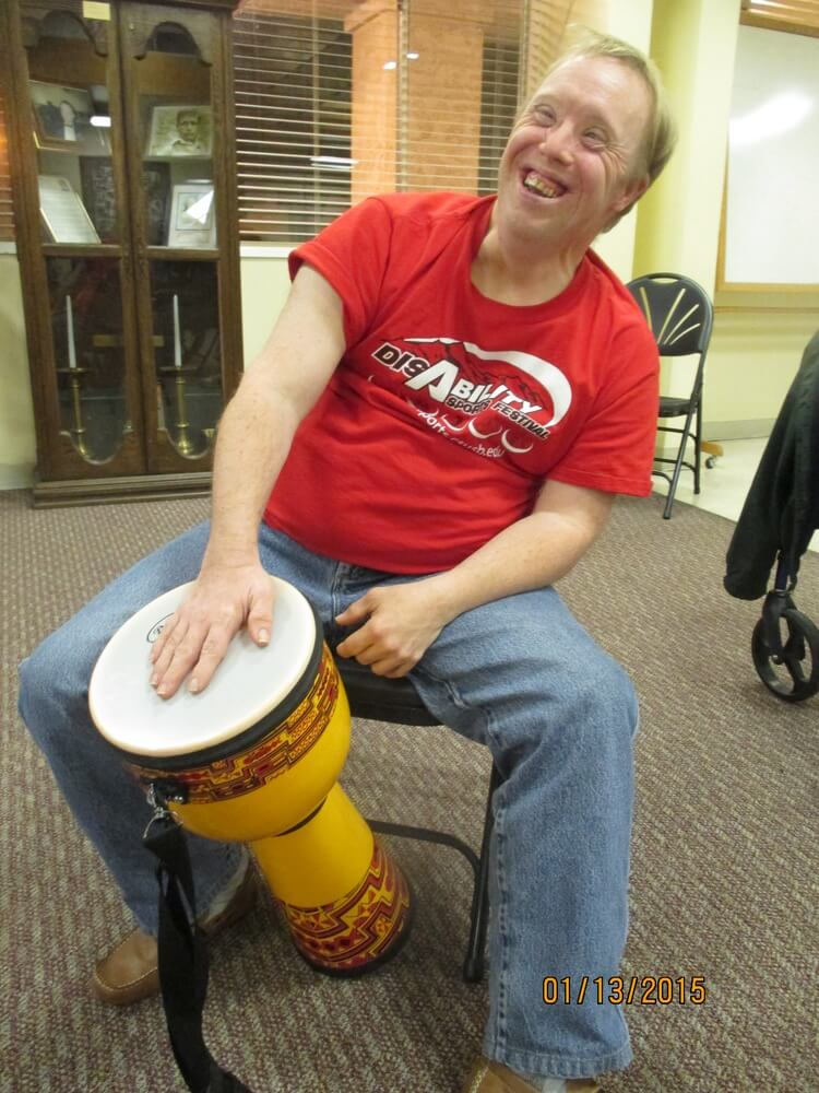 Andrew A with drum