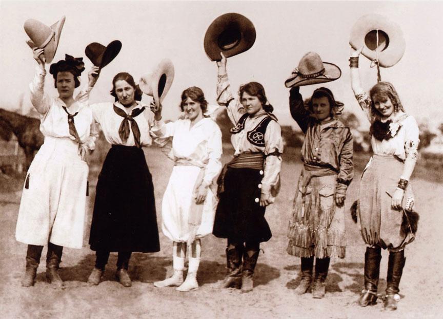 Waving Cowgirls