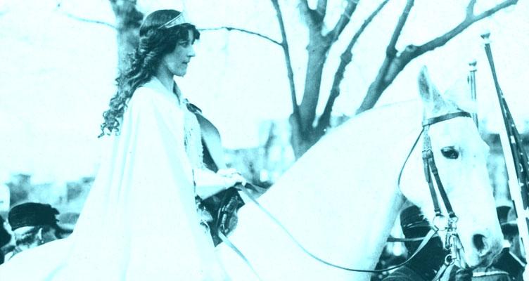 Inez Milholland on Horseback