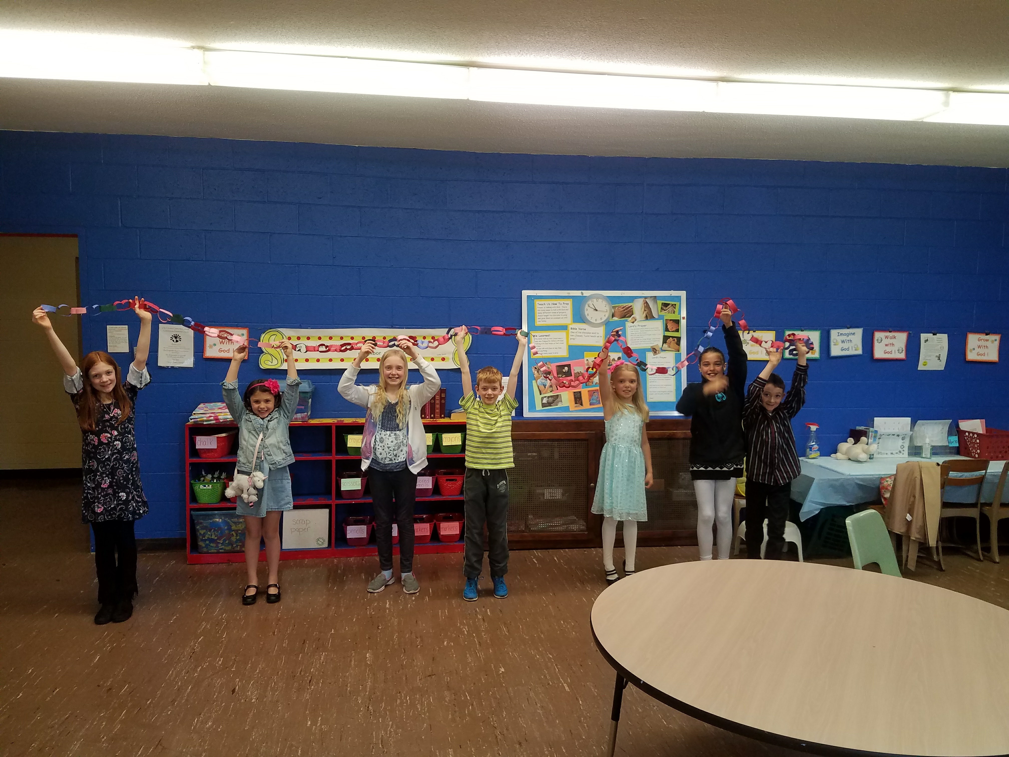 Sunday school at Waterford Central United Methodist Church