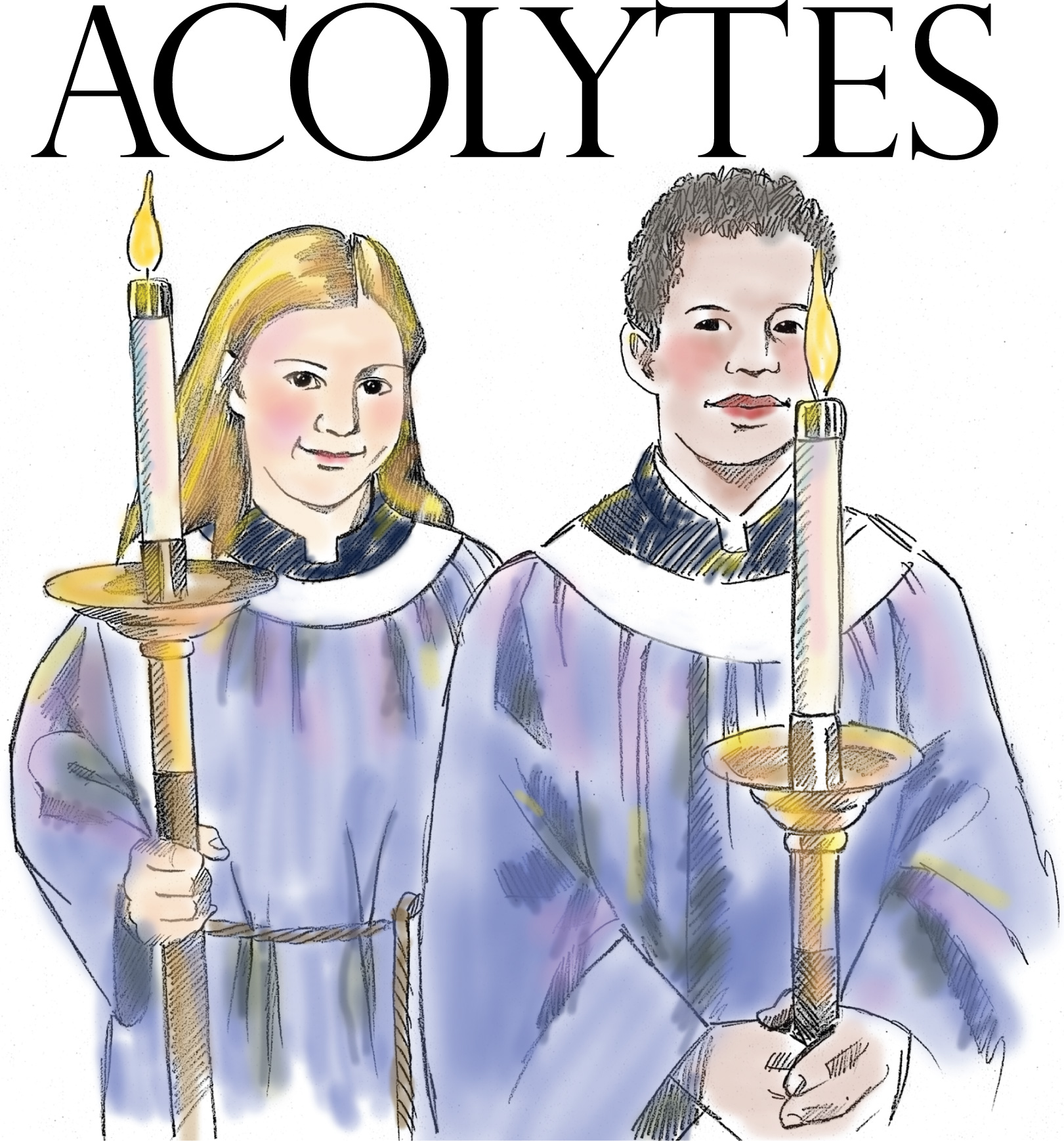 Acolytes at Waterford Central United Methodist Church