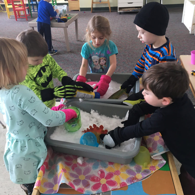Learning Solids and Liquids at Preschool in Waterford