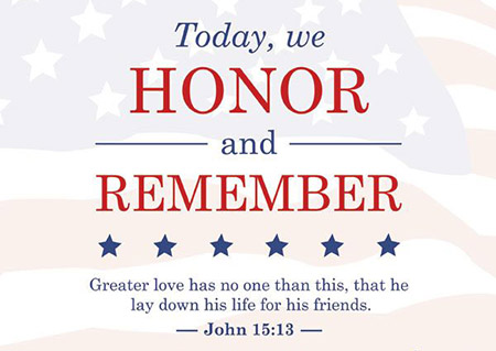 Memorial Day Message