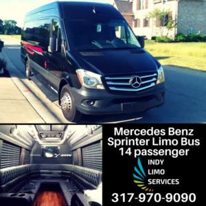 Mercedes Benz Sprinter Limo Bus - Indy Limo Services Fleet