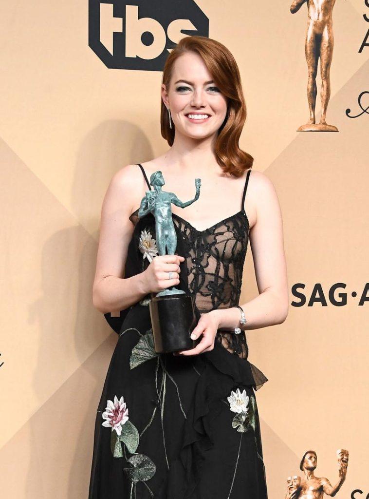 Emma Stone SAG Award Winner LA LA Land 4Chion Lifestyle