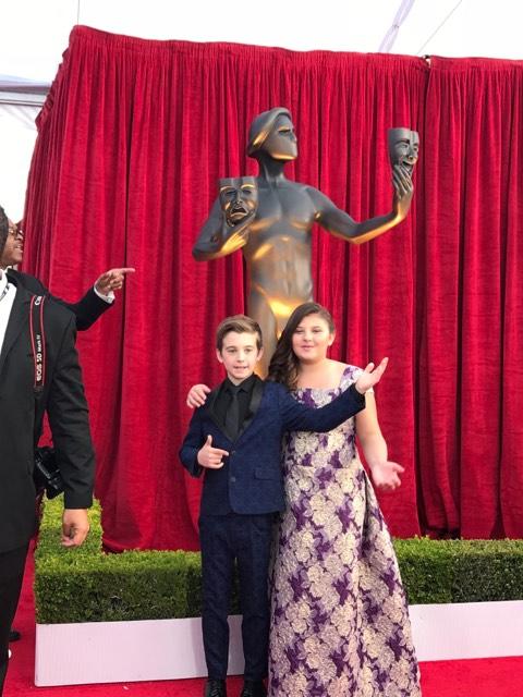 Mackenzie Hancsicsak red carpet SAG Awards 4Chion Lifestyle