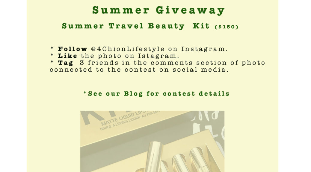 Summer Travel beauty Contest 4chion lifestyle