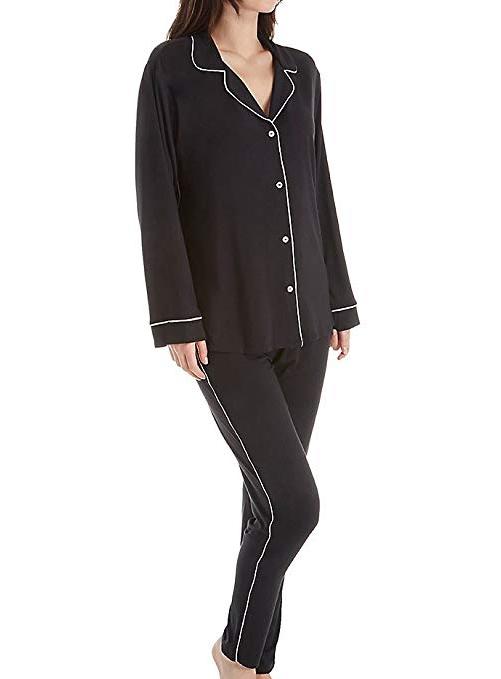 Eberjey Gisele Tuxedo Slim Pajama amazon ad holiday 4chion lifestyle