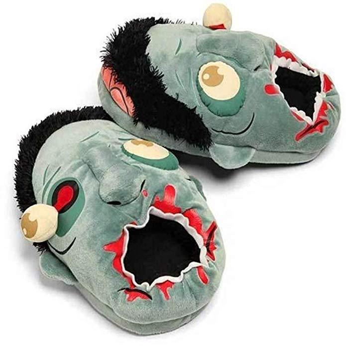 Plush Zombie Slippers amazon ad holiday 4chion lifestyle