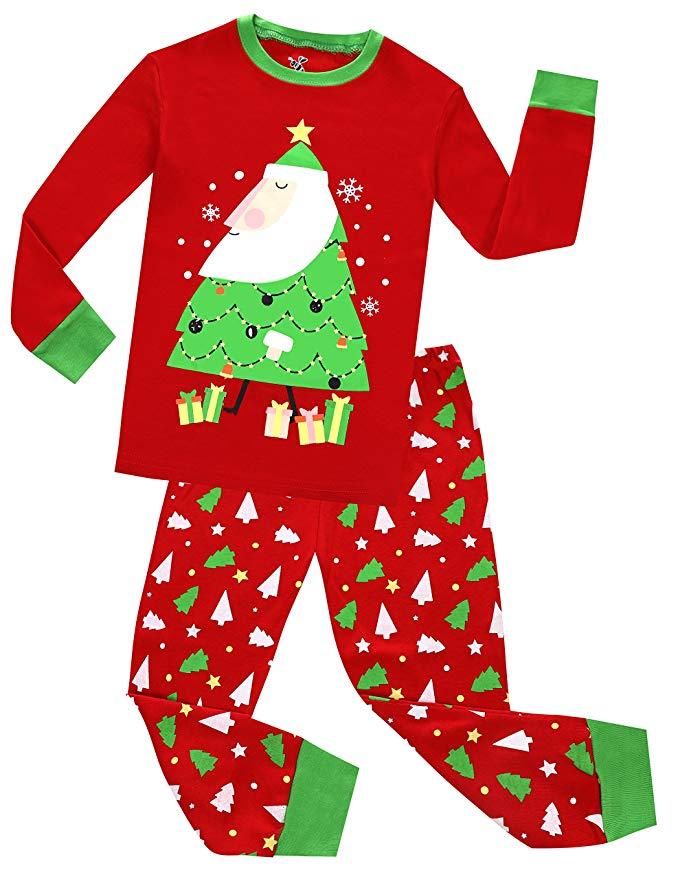 children's Christmas Pajamas amazon ad 4chion lifestyle