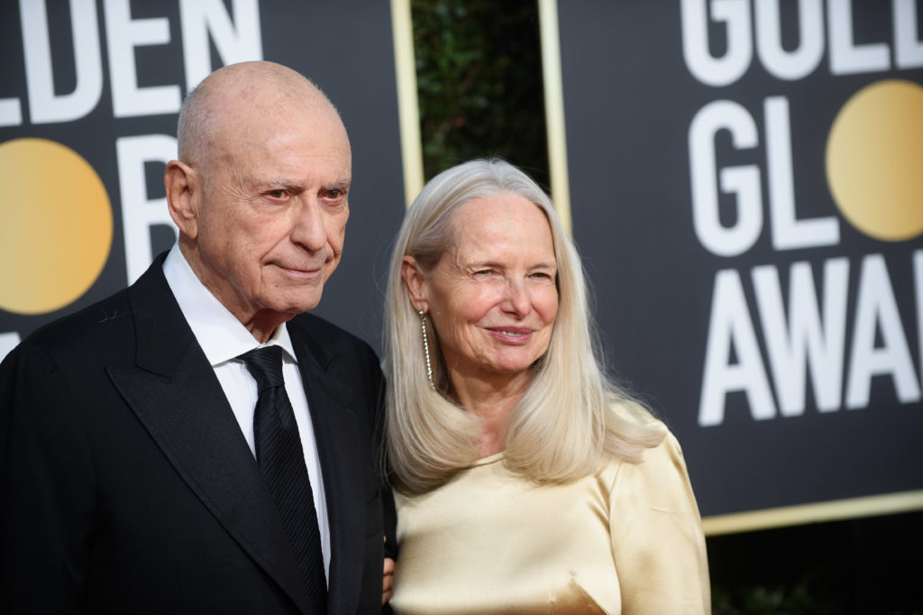 Alan Arkin and Suzanne Newlander Golden Globes 4chion Lifestyle Party