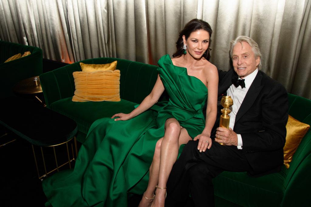 Catherine Zeta-Jones and Michael Douglas Golden Globes 4chion lifestyle