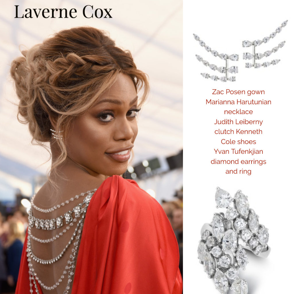 Laverne Cox Celebrity Styling Fashion SAG Awards 4chion Lifestyle