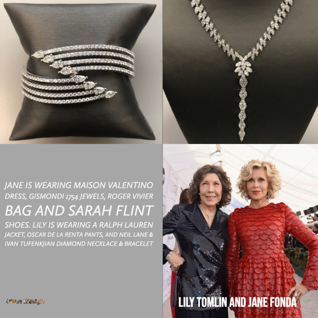 Lily Tomlin and Jane Fonda Celebrity Styling SAG Awards 4chion lifestyle