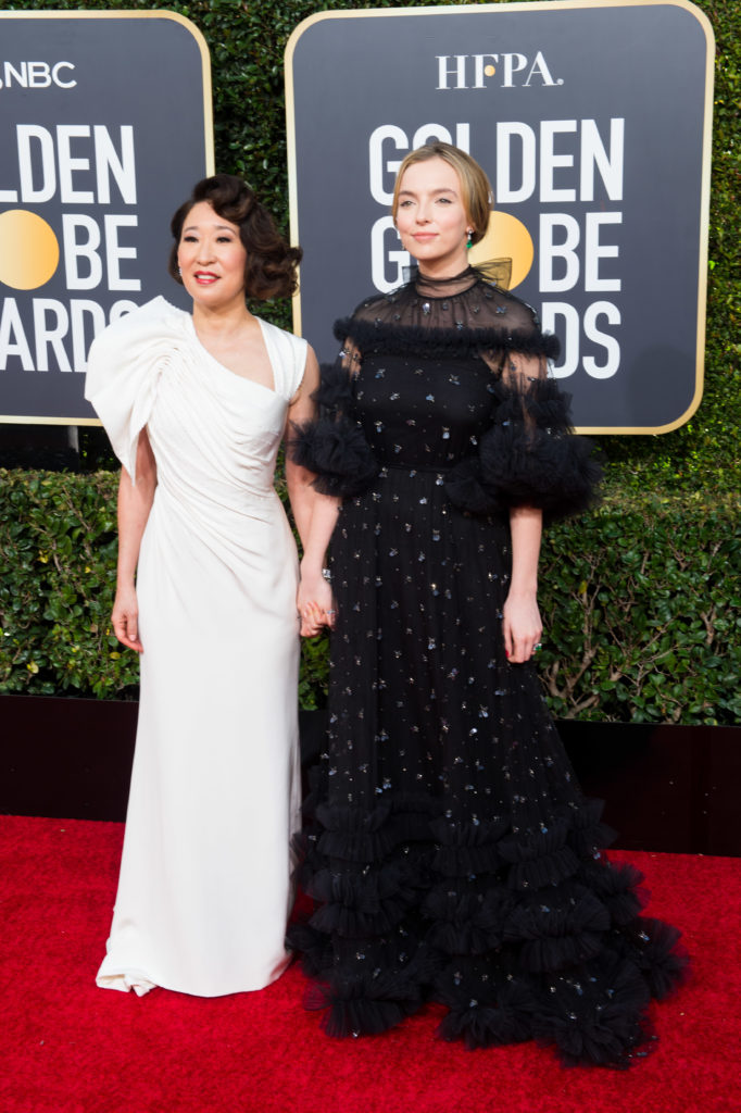 Hosts Sandra Oh and Jodie Comer Globes 4Chion Lifestyle Party