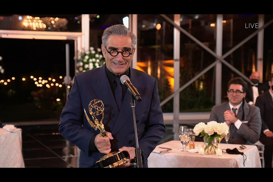Eugene Levy Outstanding Lead Actor Shitt's Creek Emmys® 4Chion Lifestyle Panemmies