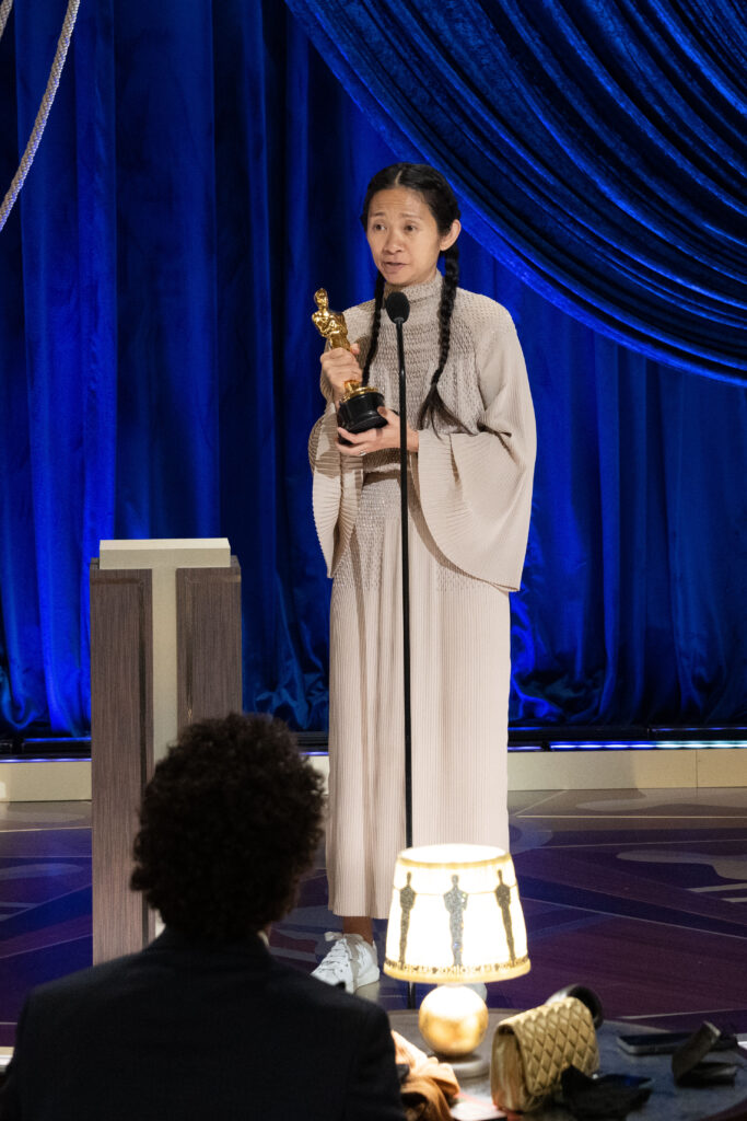 Chloé Zhao at The Academy Awards 4Chion Lifestyle