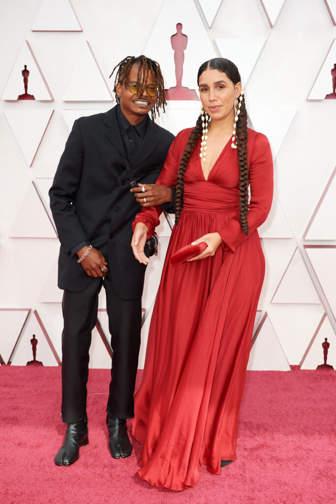 Garrett Bradley at The Academy Awards red carpet 4Chion Lifestyle 93rd Oscars