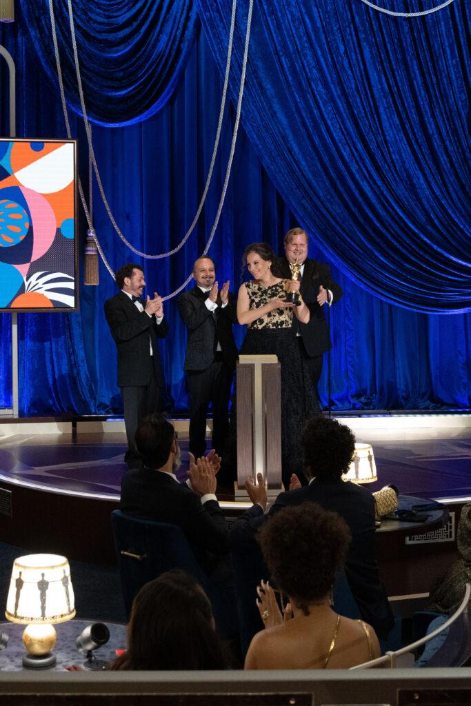 Jaime Baksht, Carlos Cortés, Michelle Couttolenc and Phillip Bladh at The Academy Awards 4Chion Lifestyle