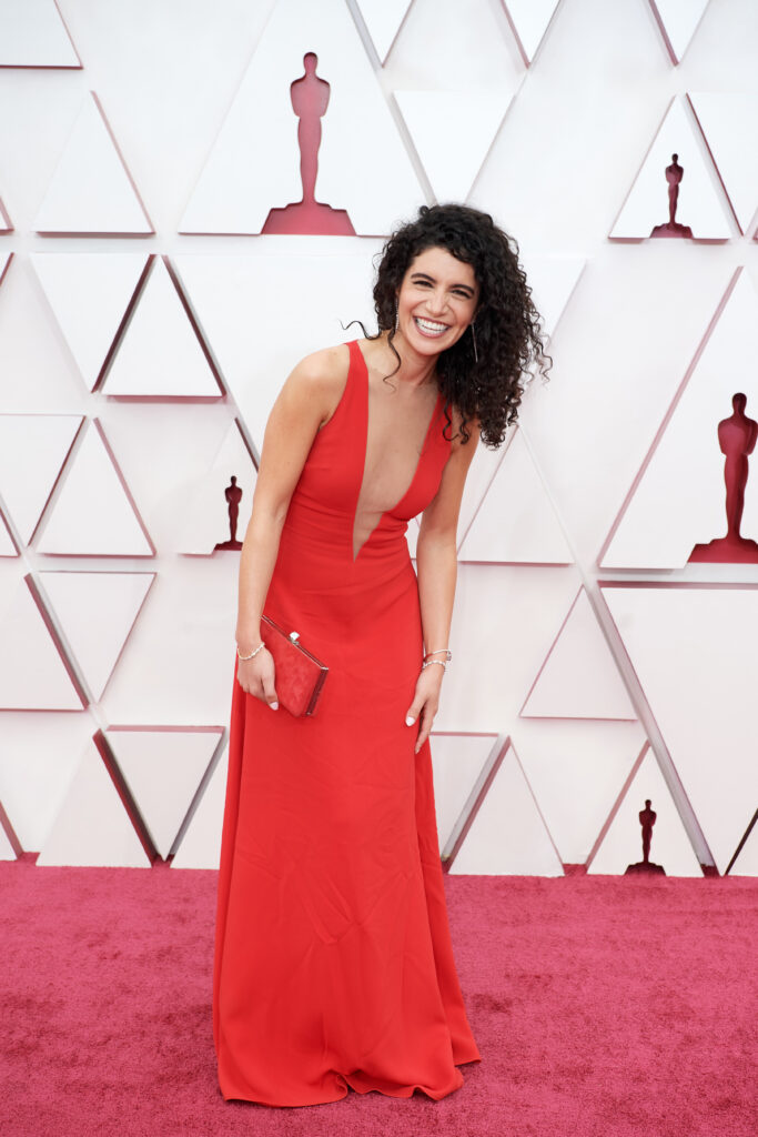 Nina Pedrad at The Academy Awards red carpet 4Chion Lifestyle 93rd Oscars