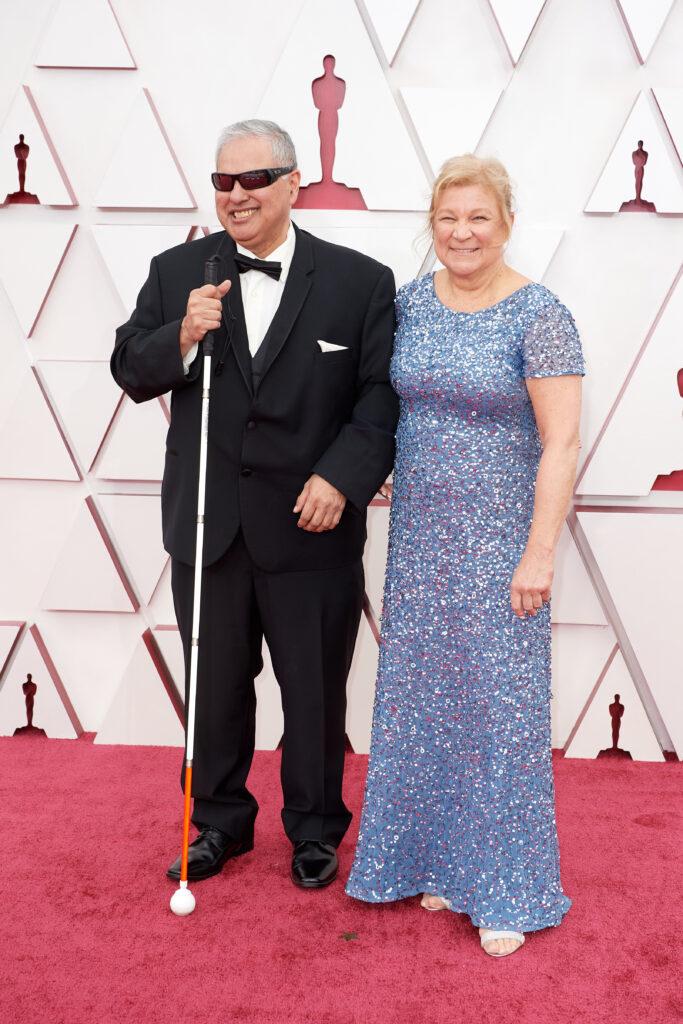 Robert Tarango and Susan Ruzenski at The Academy Awards red carpet 4Chion Lifestyle 93rd Oscars