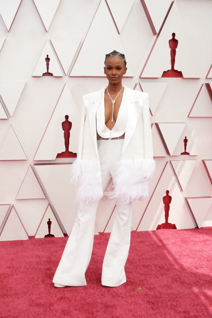 Tiara Thomas at The Academy Awards red carpet 4Chion Lifestyle 93rd Oscars