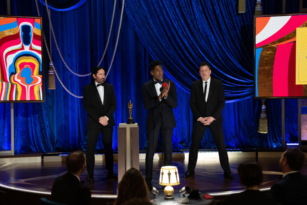 Trent Reznor, Jon Batiste and Atticus Ross at The Academy Awards 4Chion Lifestyle