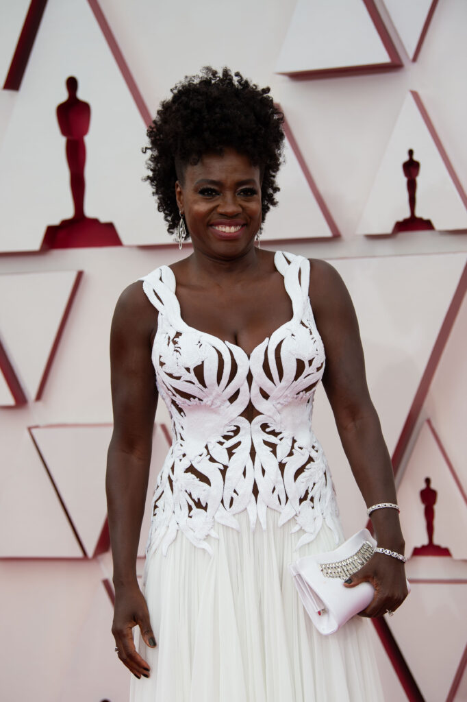 Viola Davis at The Academy Awards red carpet 4Chion Lifestyle 93rd Oscars