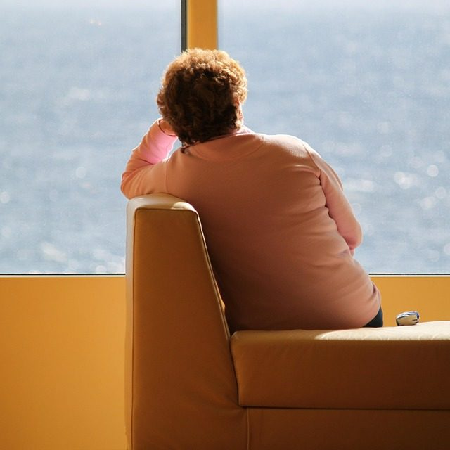 Lonely Depressed Woman