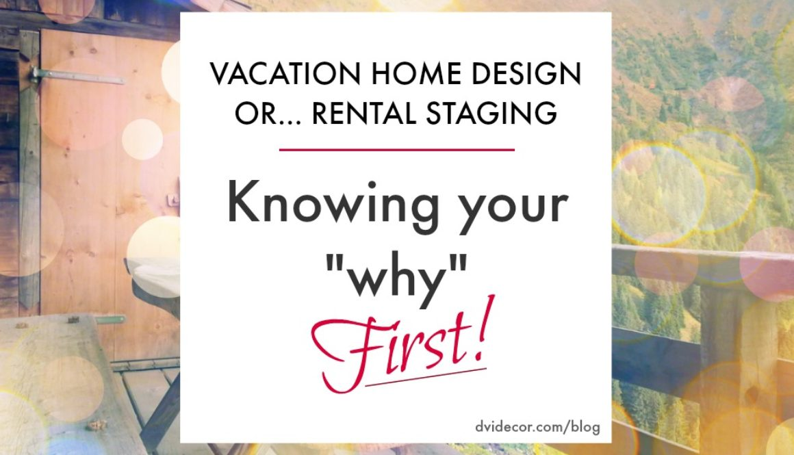 Vacation Rental or Vacation Home