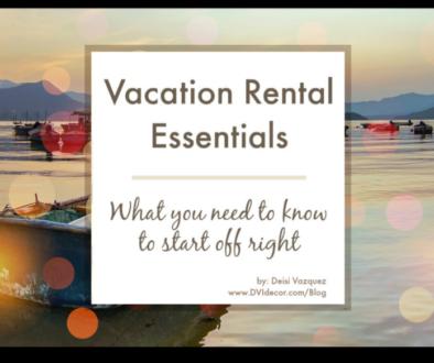 Vacation Rental Essentials List