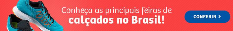 Banner para o post sobre as feiras de calçados no Brasil.
