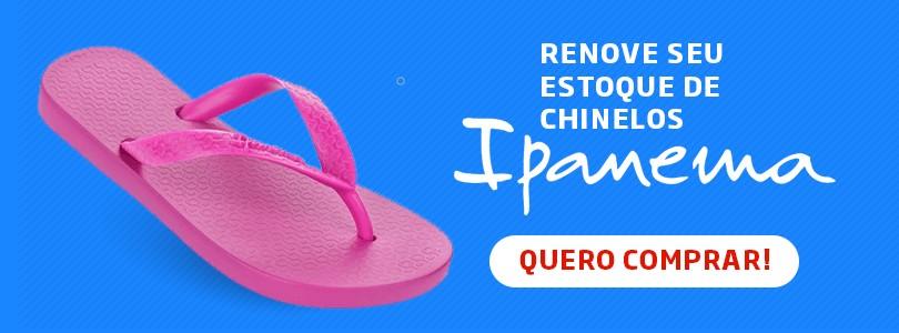 Banner para a página de chinelos Ipanema no site da Daniel Atacado.