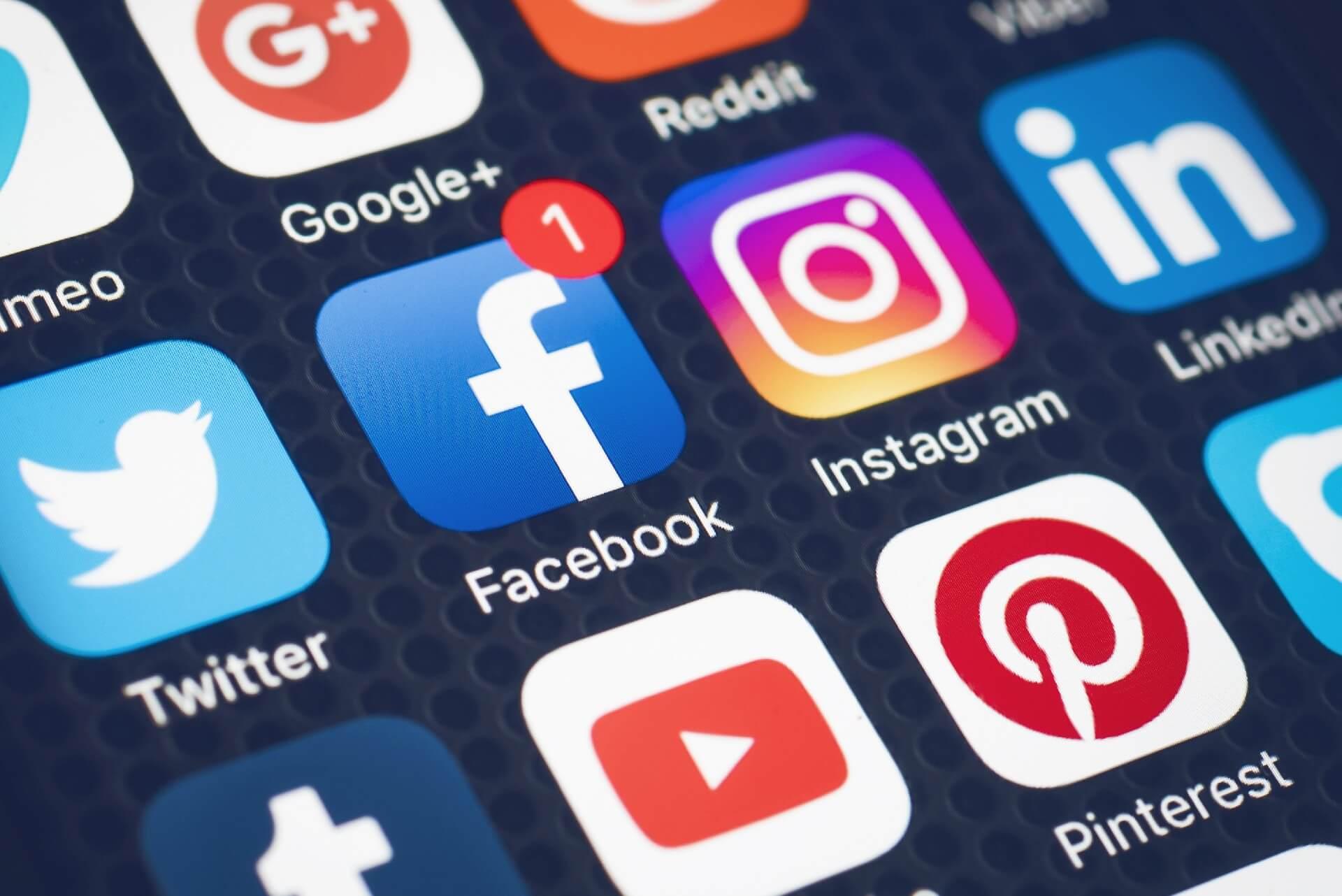 utilize as redes sociais
