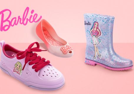 calçados da barbie