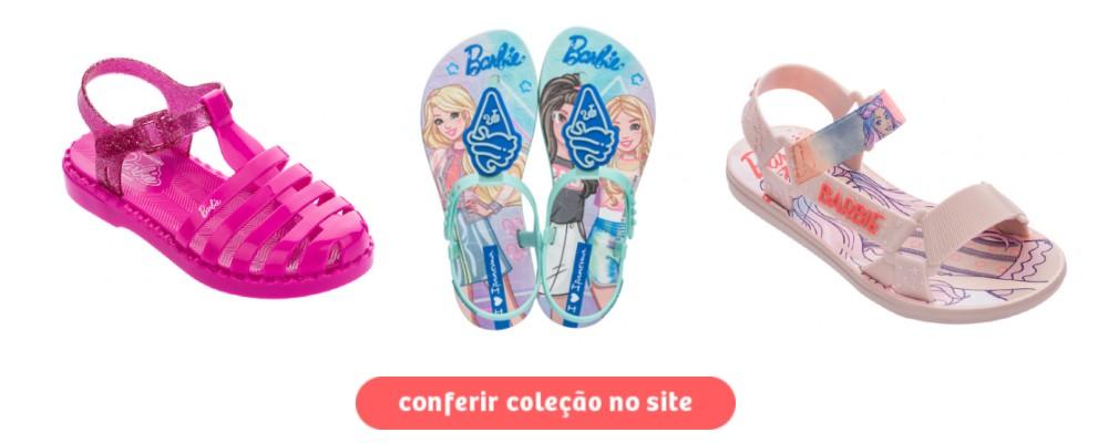 calçados da barbie - sandálias