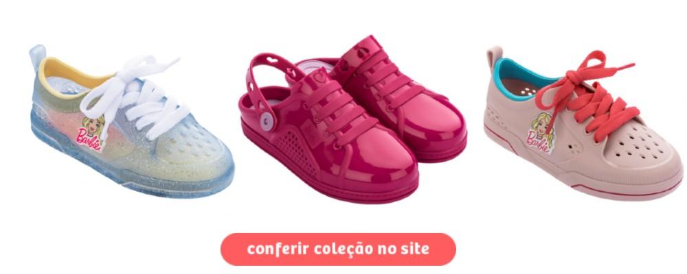 calçados da barbie - tênis