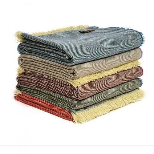 Herringbone Assorted Wool Throw