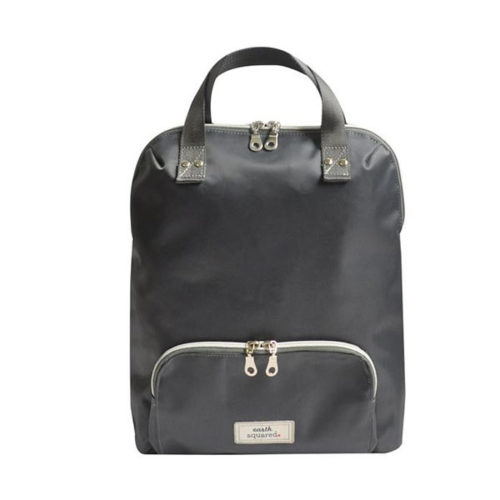 Brushed Canvas Voyage Small Grey Backpack