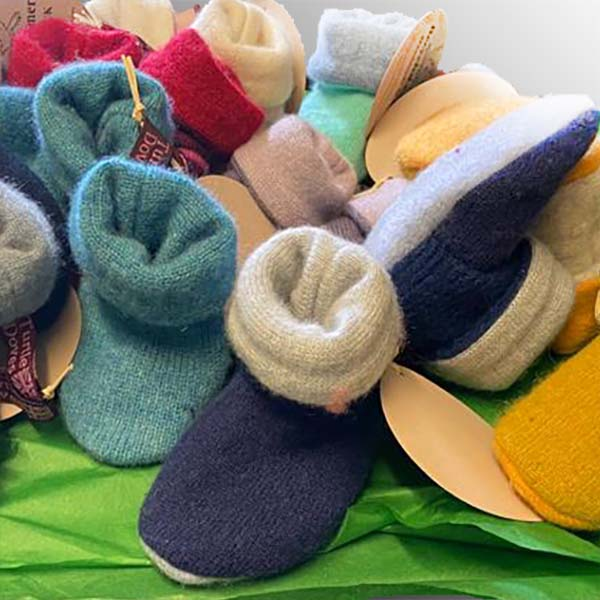 Cashmere Baby Booties - Assorted Colors