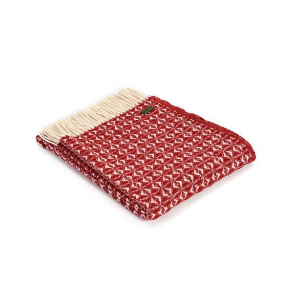 Cobweave Red Wool Throw