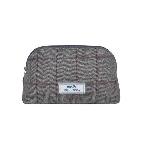 Earth Squared Heritage Tweed Makeup Bag