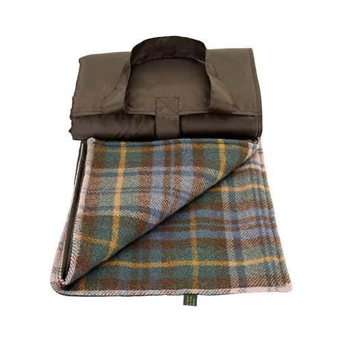 Tweedmill Eventer Antique Dress Gordon Wool Picnic Blanket Open