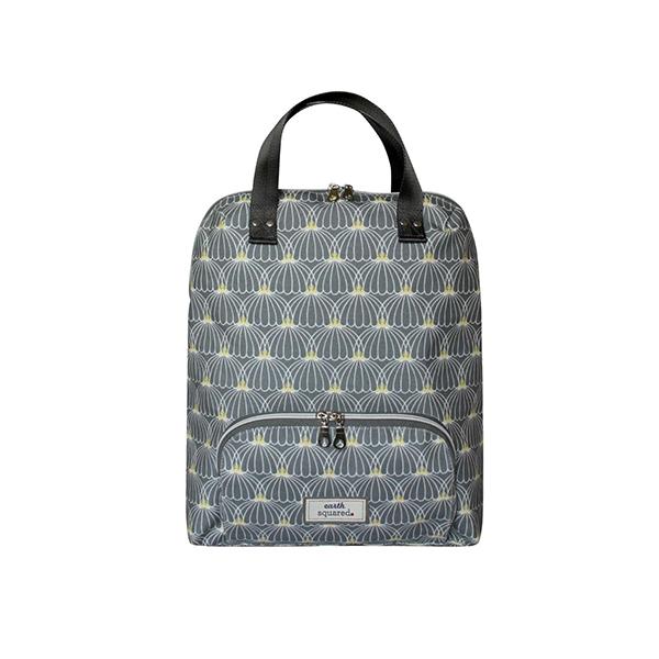 grey lantern oilcloth backpack m
