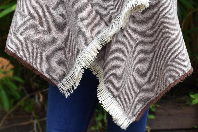 Herringbone Pure New Wool Wrap