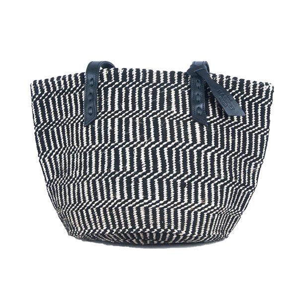 Black & White Kenyan Sisal Bag