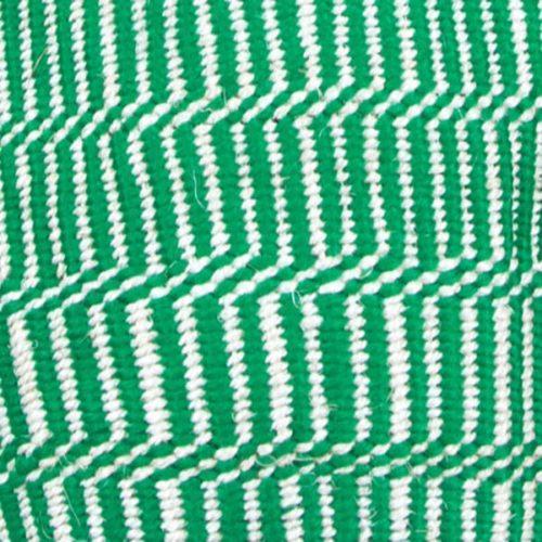 Green and White Handmade Kenyan Wool and Sisal Bag