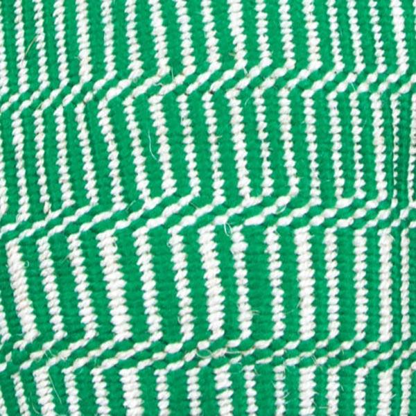 Green & White Kenyan Sisal Bag Closeup
